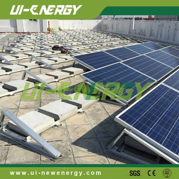 Solar power flat concrete roof ballasted mounting brackets for home or commercial application
