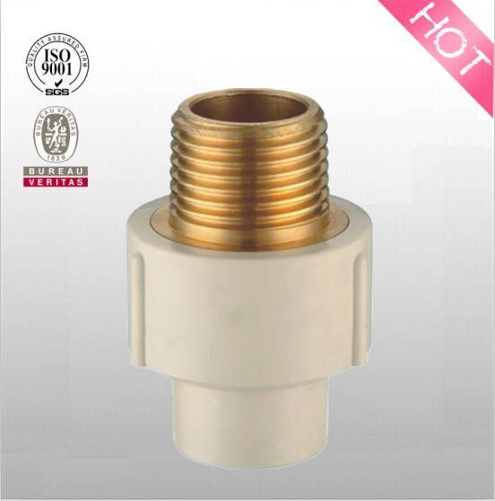 High quantity CPVC BRASS THREADED MALE COUPLING( ASTM D2846 adapter)
