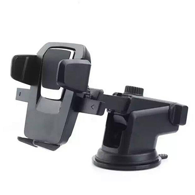 Long arm retractable car windshield phone holder