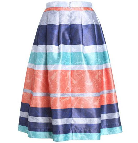2014 Contrast Color Ladies Fashion Skirts