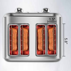 Retro Stainless Steel Toaster ST027 Retro Classic Design