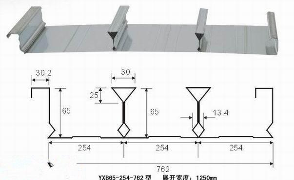 Closed type steel deck plate for metal floor