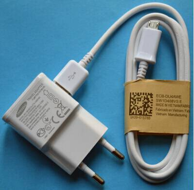 AC EU Wall Home Charger+USB 3.0 Data Cable For Samsung Galaxy S5 Note 3 N9000