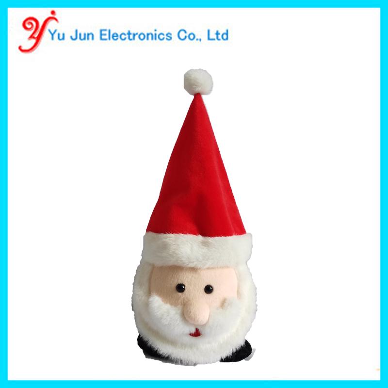 Animated singing santa head