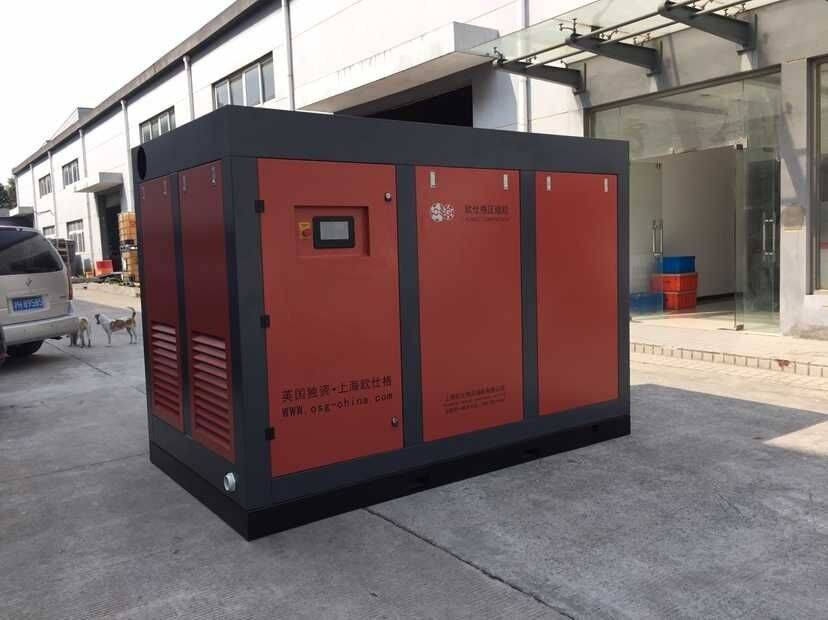 Low Oil Leakage Industrial Screw Air Compressors With Two Stage