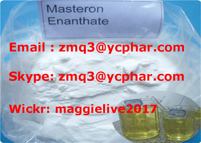 Masteron Enanthate Muscle Building Steroids White Drostanolone Enanthate Powder CAS 472-61-145