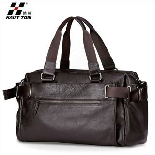 Hautton Brand 100% Genuine Leather Bags for Man Business Briefcase DB09