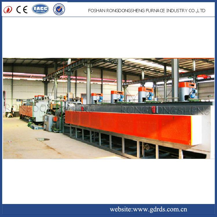continuous mesh belt gas quenching and tempering heat treatment electrical resistance furnace for bo
