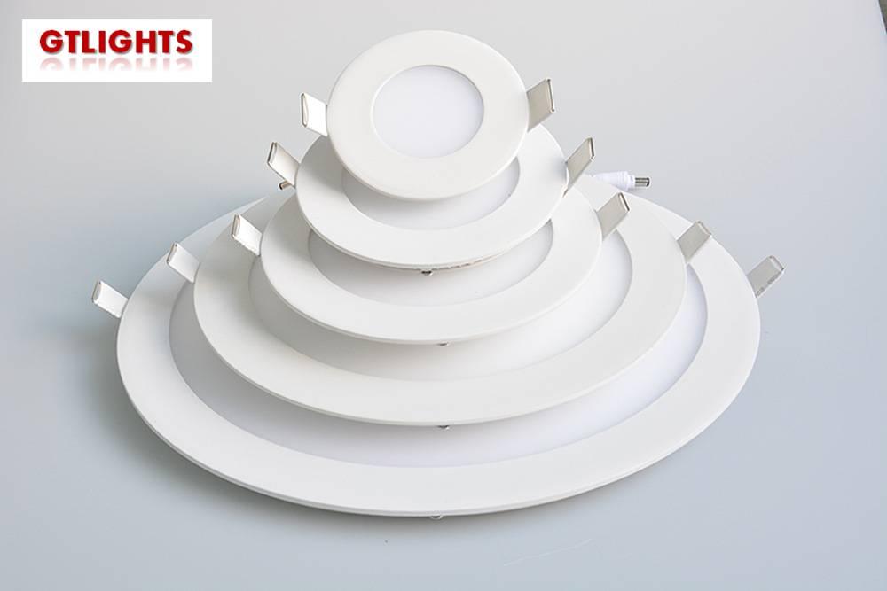 3W round LED panel lights