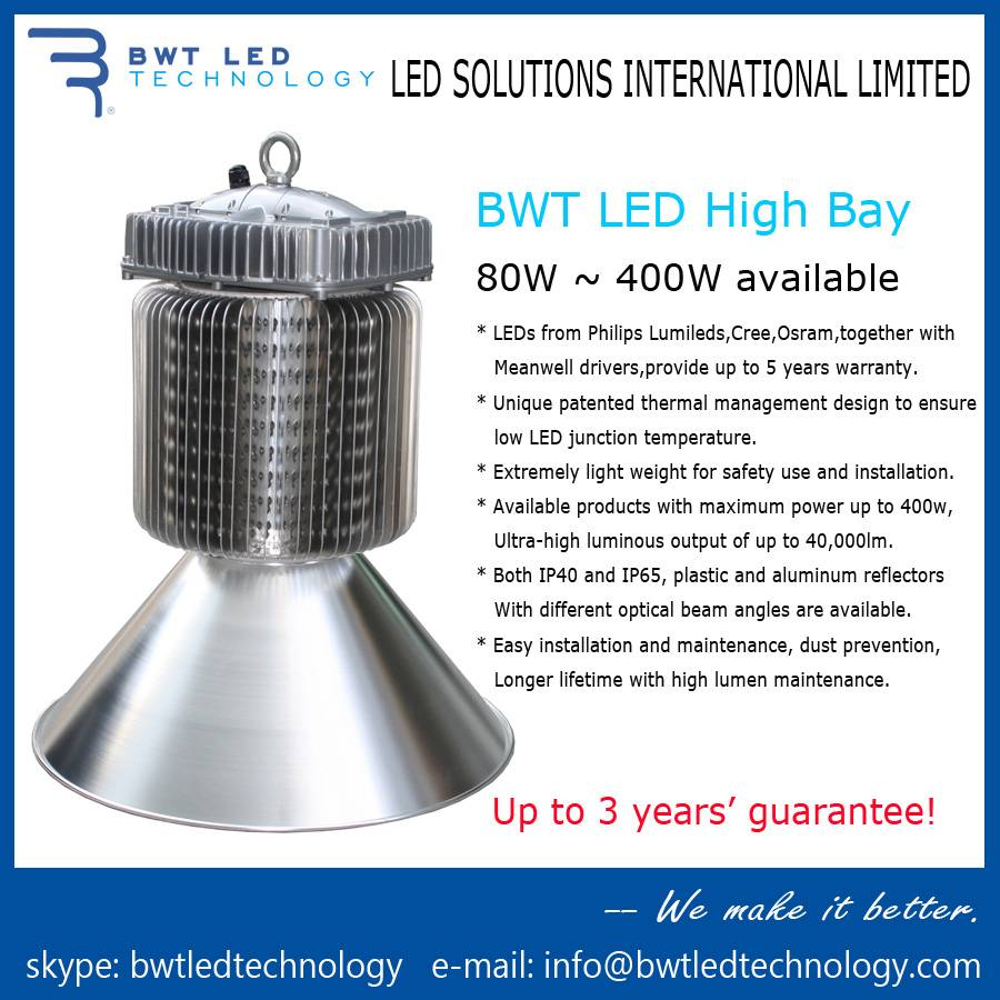 BWT LED High Bay 400W 3 Years's Guarantee