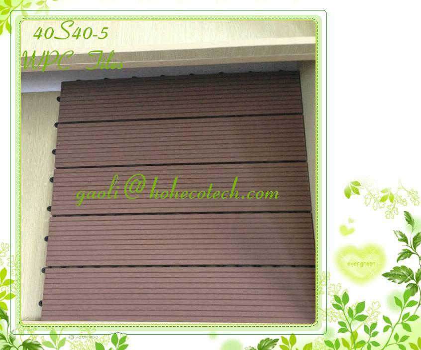 400mm outdoor wood tiles / Hot sell WPC floor tiles factory