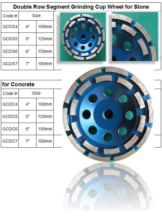 Double Row Diamond Grinding Cup Wheel