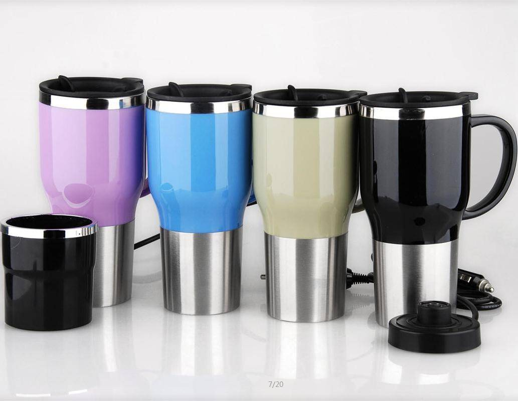 Innovative Personalized Electric Car Mug heated travel/auto mug with handle