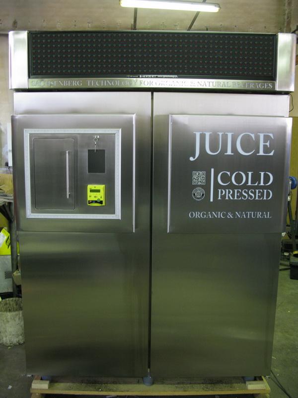 Cold pressed juice vending machine Juicebot