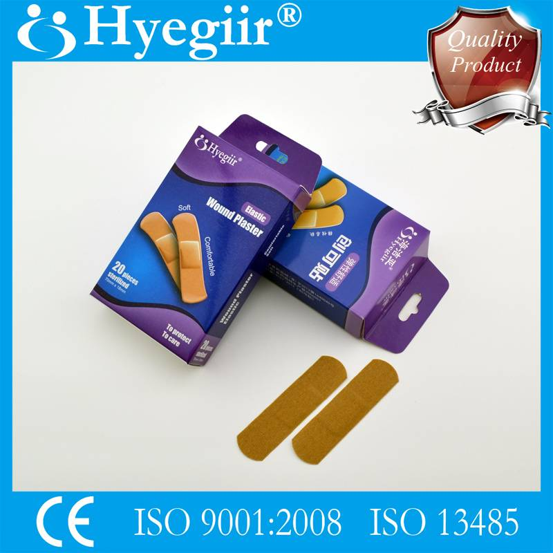 Boxed elastic wound plaster