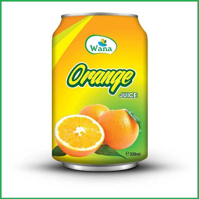 Orange Juice Wholesale in Alu Can 330ml