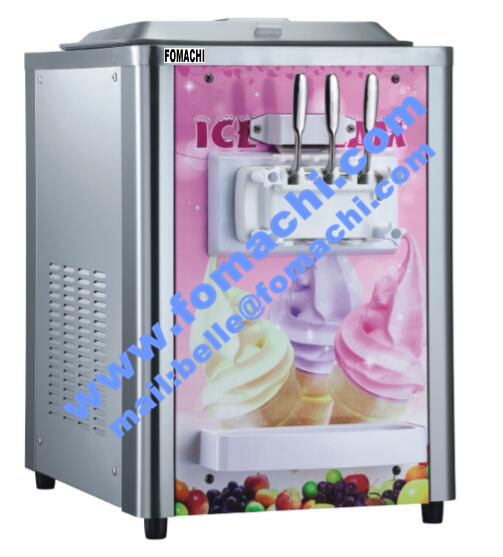 Soft Ice Cream Machine 3 Flavors Table Top FMX-I69