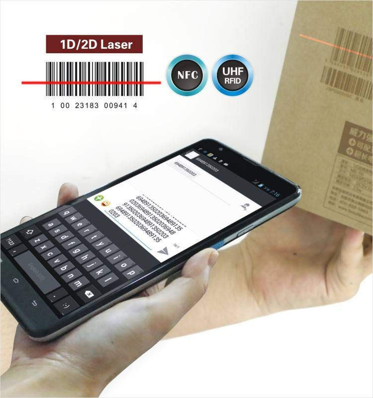 LS7(1D) industrial handheld android barcode scanner with display,wifi,3G
