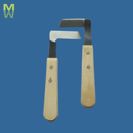 stainless steel ,woodle handle repair hoof knife for cow