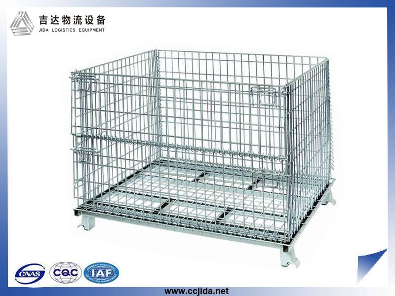Hot sale Stackable Industrial  galvanized Wire Mesh Storage Cage Container