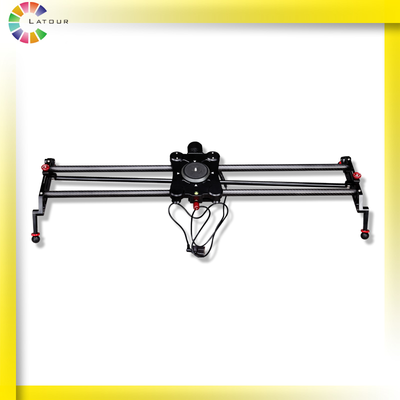 Motorized Camera Slider Track Dolly Carbonfiber Video Stabilizer with Follow Focus Function GP-80QD
