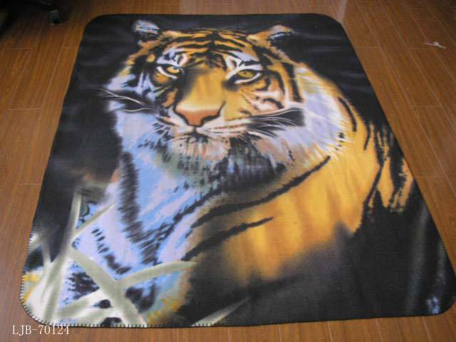 Polar Fleece Fabric Animal Printed Tiger