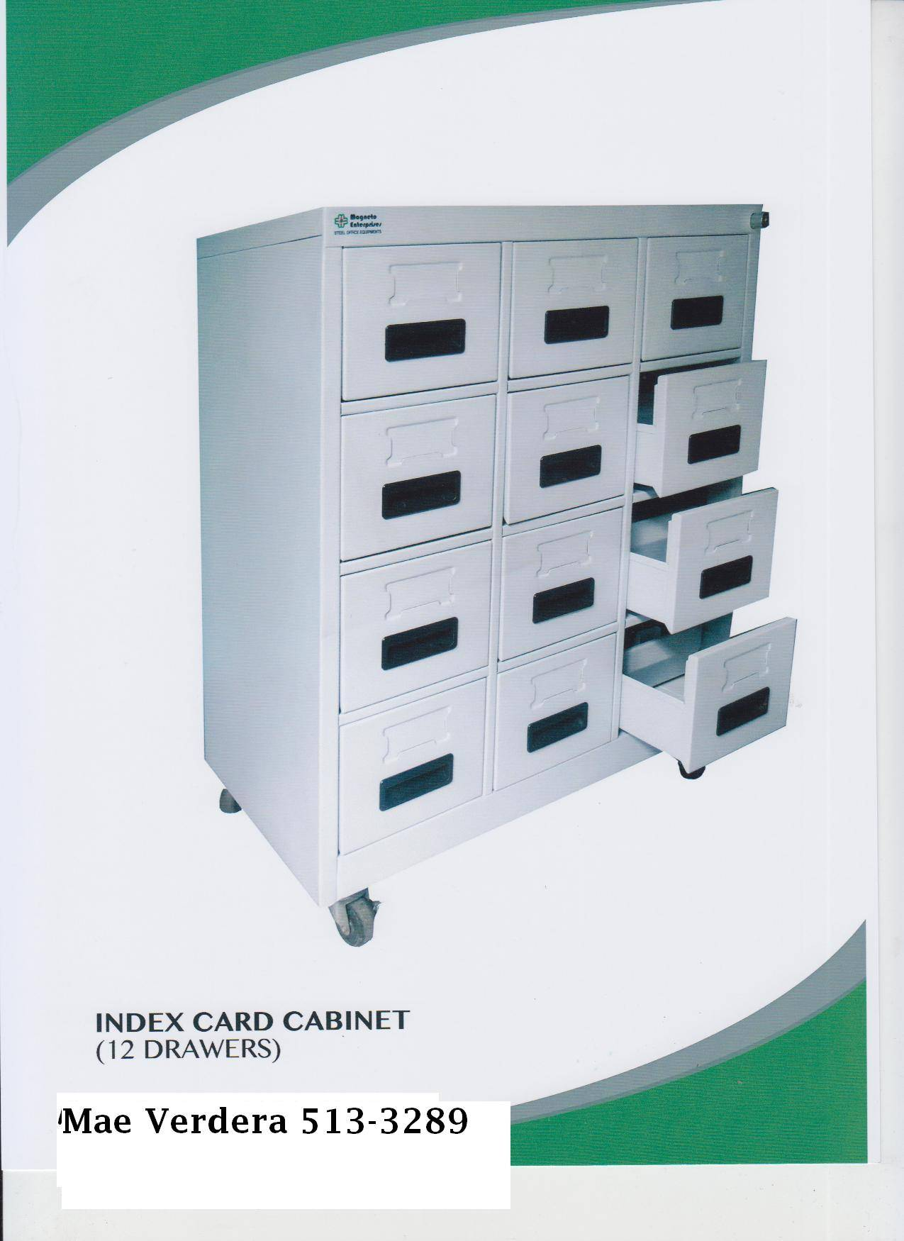 Index Card Cabinet