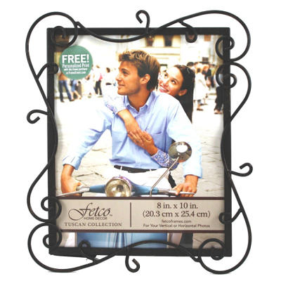Metal Wire Black Square Tabletop Picture Photo Frame With Stand
