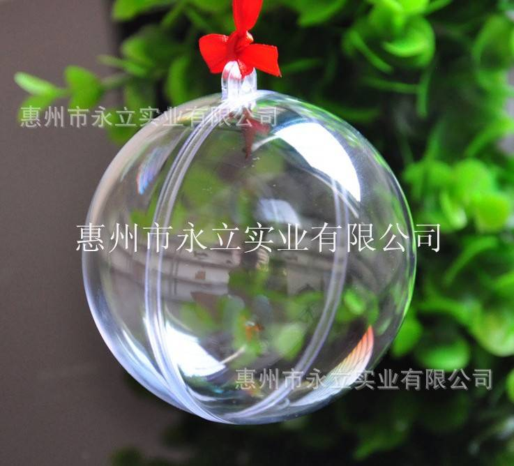 decoration christmas balls transparent plastic ball christmas hanging decoration