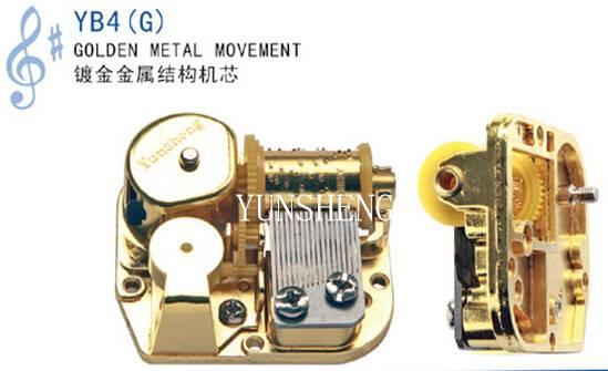 Yunsheng Golden Metal Musical Movement for Music Box Art Craft(YB4G)