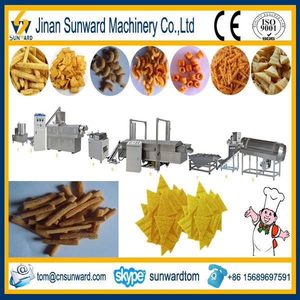 Fried Corn Chips Snack Food Processing Machine