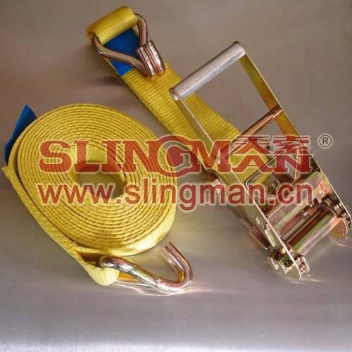 China supplier 75mm-100mm 10ton ratchet  lashing straps tie down web lashing