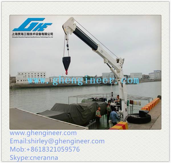 15T/21M Hydraulic Telescopic Boom Marine Crane
