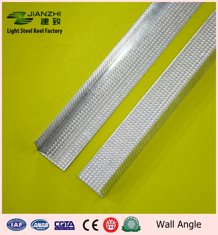 Factory price 25/25mm galvanized steel L type ceiling wall angle with 0.5mm thickenss