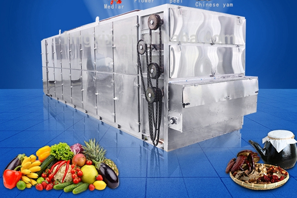 Hot Air Circularly Applied In Red Chili Belt Dryer