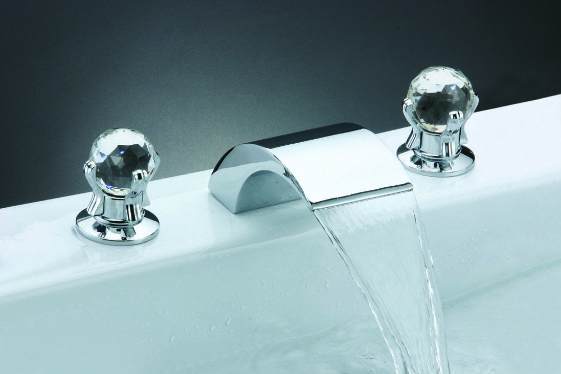 60001 Double-handle basin mixer