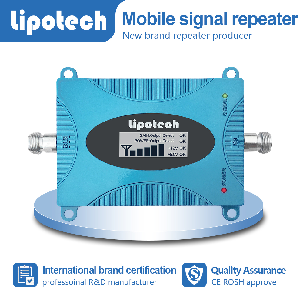 Mini mobile signal repeater with lcd screen and pretty price