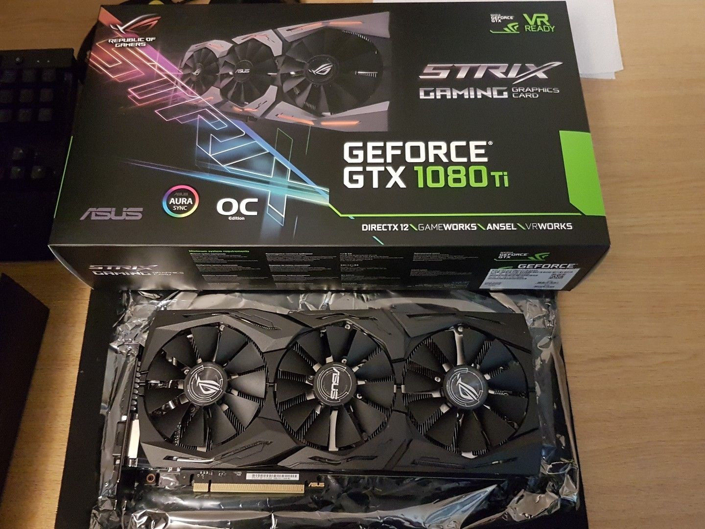 ASUS GeForce GTX 1080 Ti STRIX ROG Overclocked 11GB
