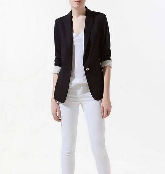 new hot stylish and comfortable women's Blazers Candy color lined with striped Z suit