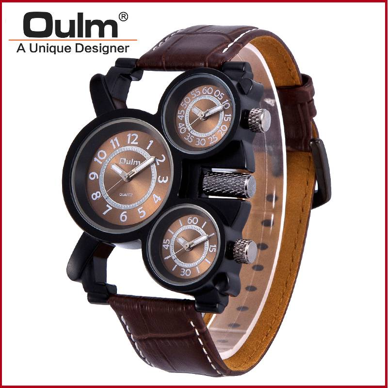 Oulm brand watch factory direct sell men quartz watch