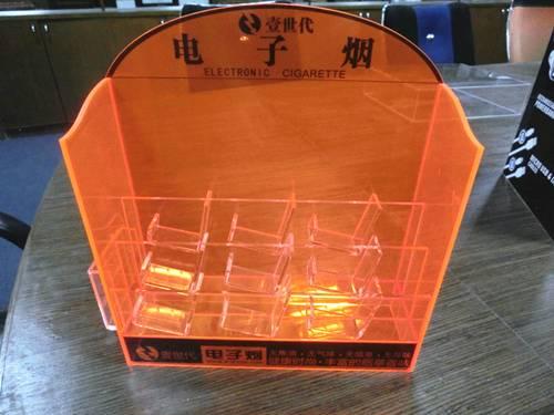 Desk-top acrylic e-liquid display stand