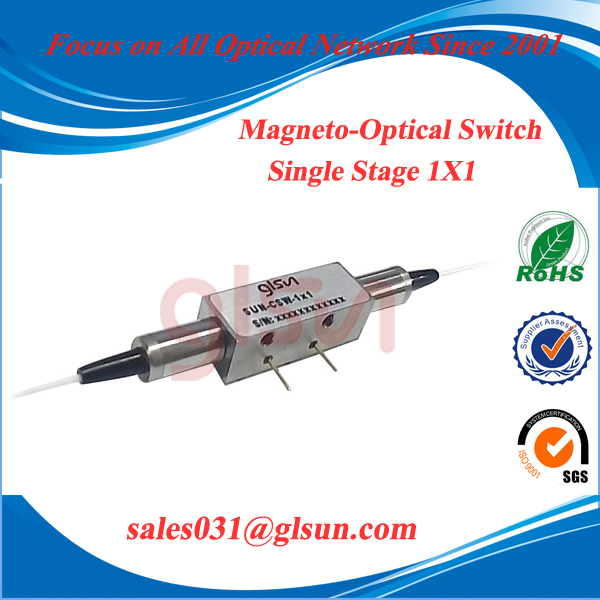 Single Stage 1x1 Magneto-Optical Switch