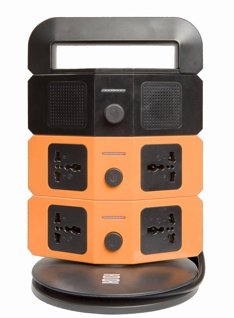 ultrathin multifunctional socket with 6 universal outlets & bluetooth speaker eg/eu/cn plug