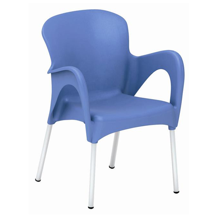 Wholesale Price Patio Plastic Garden Chairs with Aluminum Legs