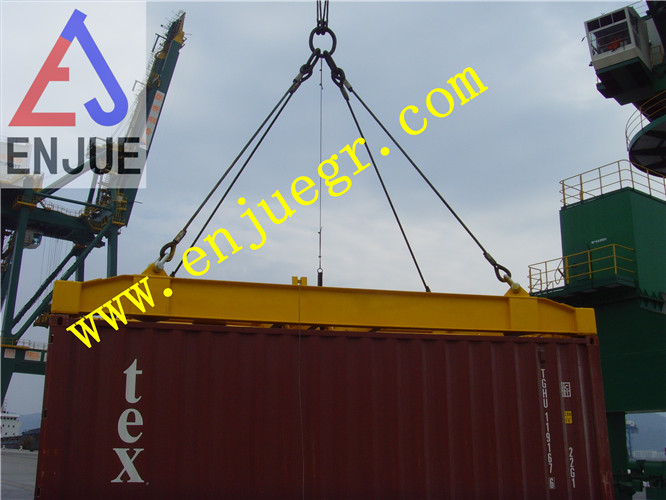 Simple Mechanism Semi-Automatic Container Spreader Lifting Autotic Fixed Container Spreader