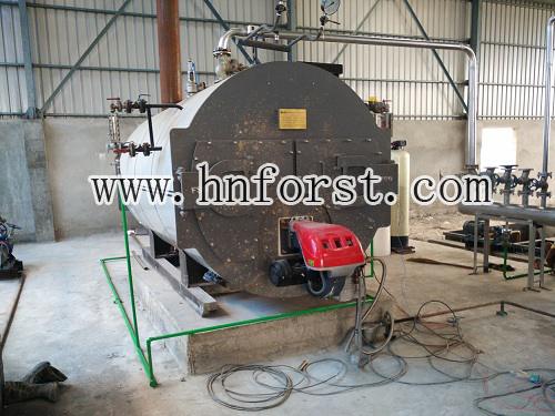Factory direct sale horizontal 1 ton gas steam boiler