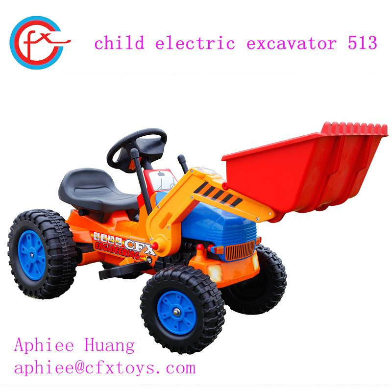 kid ride on electric car pedal excavator 513