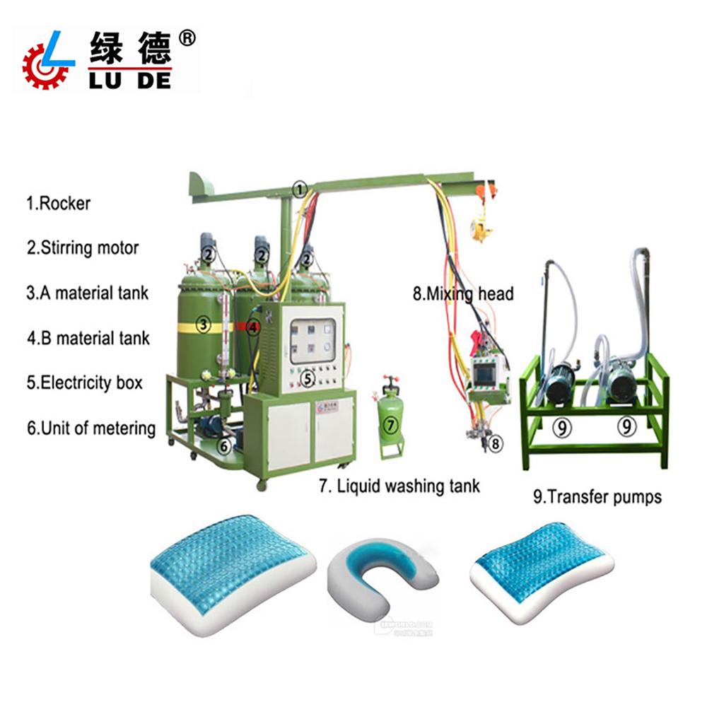 PU memory pillow injection foaming machine pu sponge and cushion molding machine