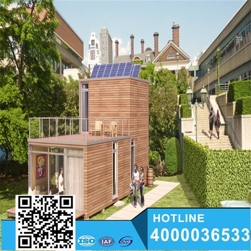 Enviromental solar power shipping homes container
