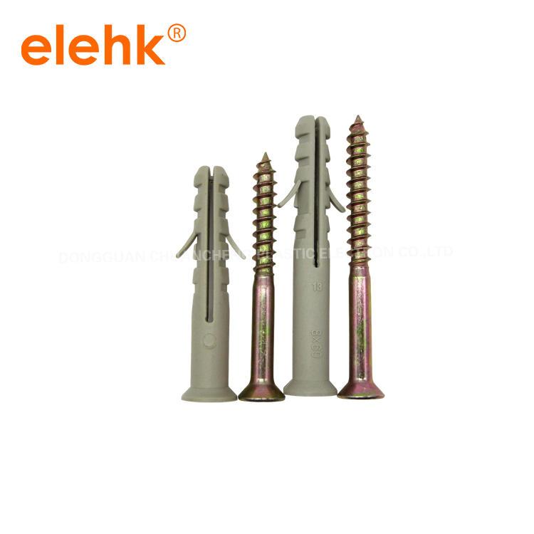 Free Samples Plastic Expansion Anchor And Plastic Screw Wall Plug